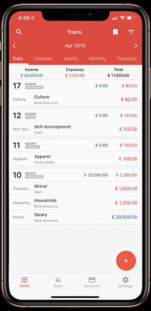 1.1 DzTechs - 9 من أفضل تطبيقات تعقب وتتبع النفقات لنظامي Android و iOS