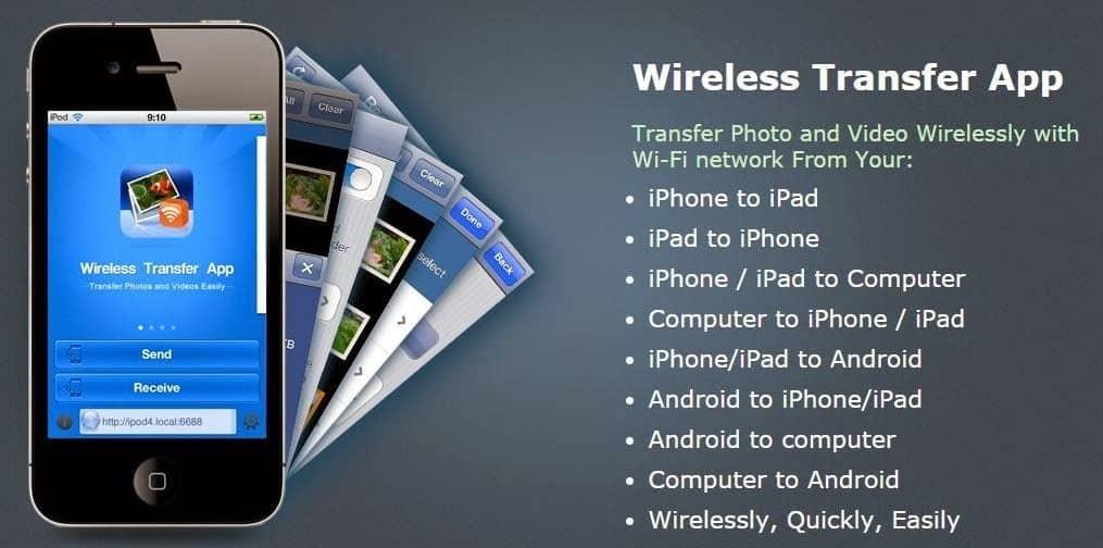 Wireless Transfer App لنقل الملفات بين مختلف أنظمة التشغيل - Android iOS الهواتف