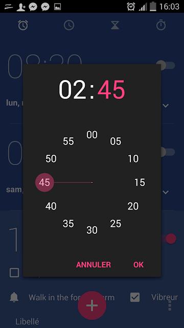تطبيق Google Clock مجانا على متجر Google Play مع تصميم Material Design - Android الهواتف