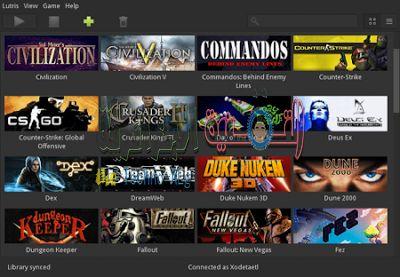 Lutris DzTechs - أفضل مواقع تحميل العاب لينكس مجانا Best sites to download free Linux games 2020