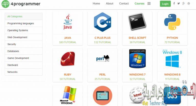 4programmer 2 768x415 DzTechs - اليك هذا الموقع الذي يقدم لك أكثر من ألف كورس تقني مجانا