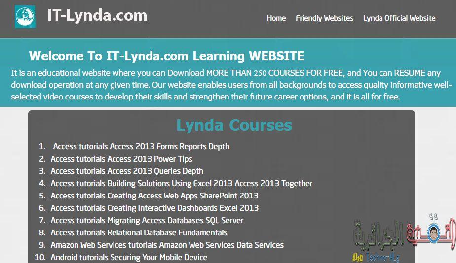 موقع جديد يقدم لك مئات الكورسات التعليمية التقنية و العديد من الكورسات الاخرى مجاناً - Learning