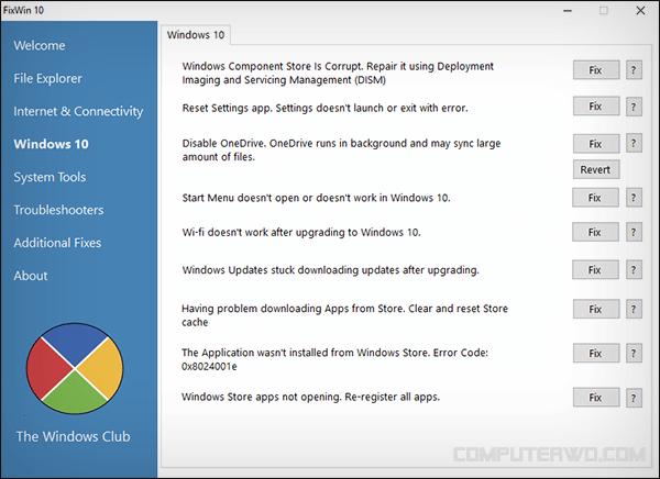 Des moyens simples d'utiliser des outils gratuits pour résoudre tous les problèmes de Windows 10 - Logiciel