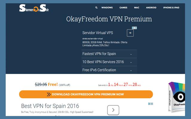 OkayFreedom VPN يوفر لك vpn مع سريال التفعيل مجانا - البرامج المجانيات