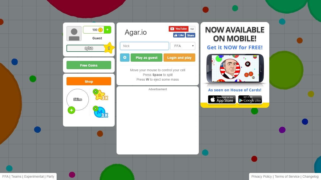 شرح تفاصيل اللعبة الشهيرة Agar.io و كيف يمكنك لعبها