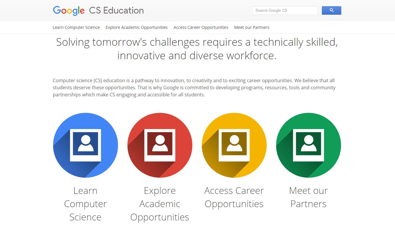 Le nouveau site Google Cs Education propose de nombreux enseignements pour l'apprentissage des langages de programmation et de l'informatique - Apprentissage