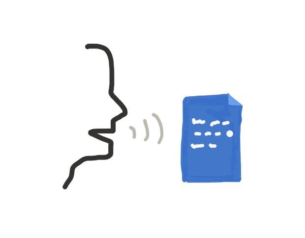 L'application Speech To Text pour convertir la parole en texte ajustable
