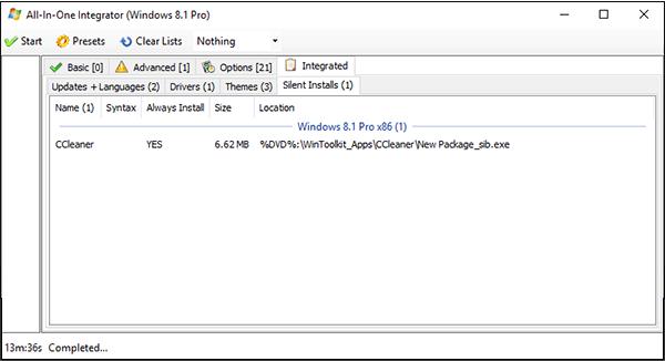 دمج مختلف البرامج المهمة مع نسخة الويندوز في ملف واحد لتثبيتها تلقائيا