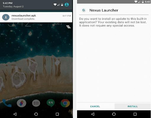 Le nouveau lanceur de Google pour les téléphones Nexus 2016 est disponible pour tous les appareils Android