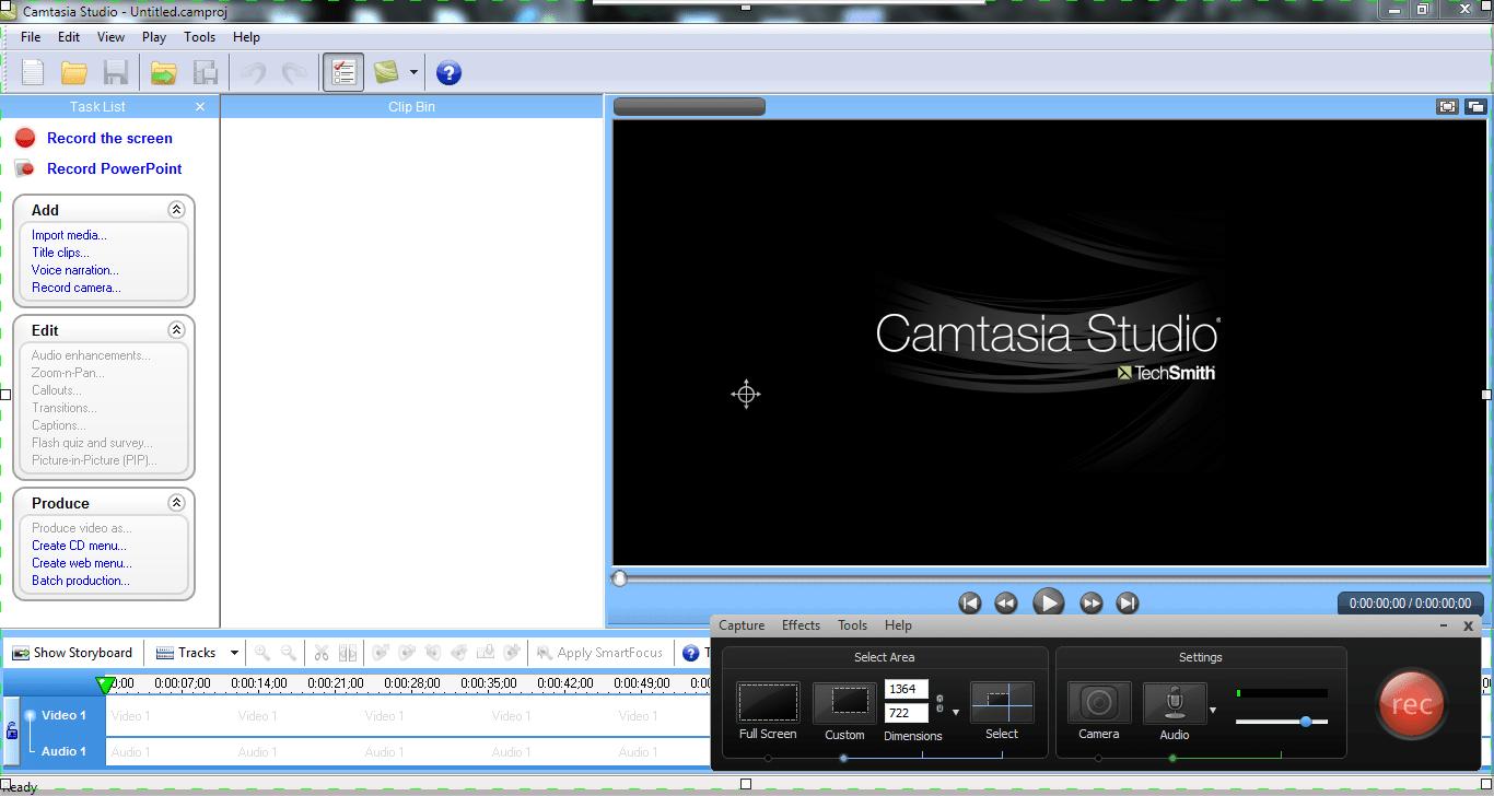 برنامج Camtasia Studio لتسجيل شاشة الكمبيوتر وعمل شروحات الفيديو