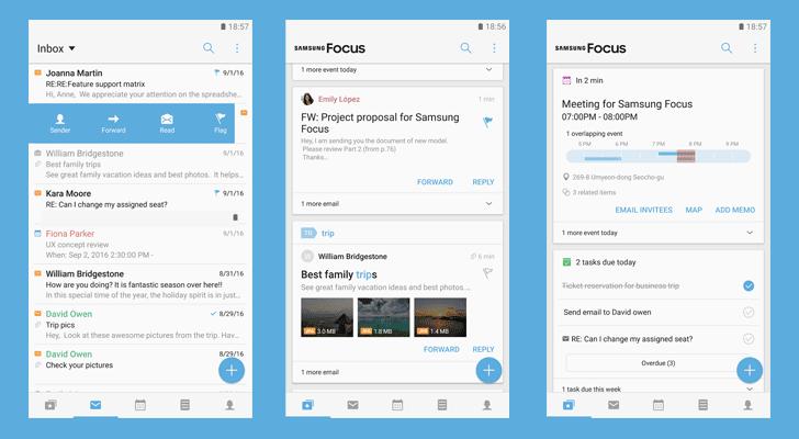 Application Samsung Focus de Samsung pour faciliter la gestion des tâches et des rendez-vous - Android
