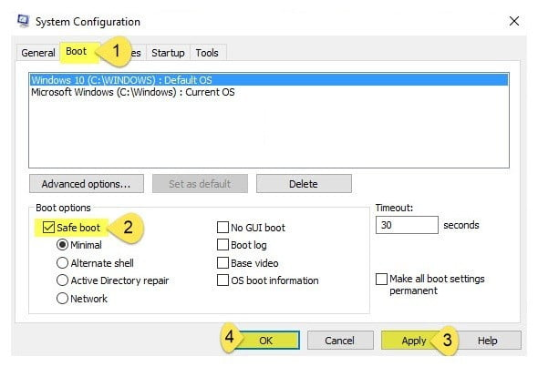 save+mode DzTechs - تفعيل الوضع الآمن Save Mode في الويندوز 10 بطرق سهلة