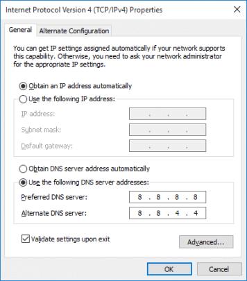 2016 08 08 10 356x405 DzTechs - حل مشكلة DNS PROBE FINISHED وERR_CONNECTION_CLOSED في كروم