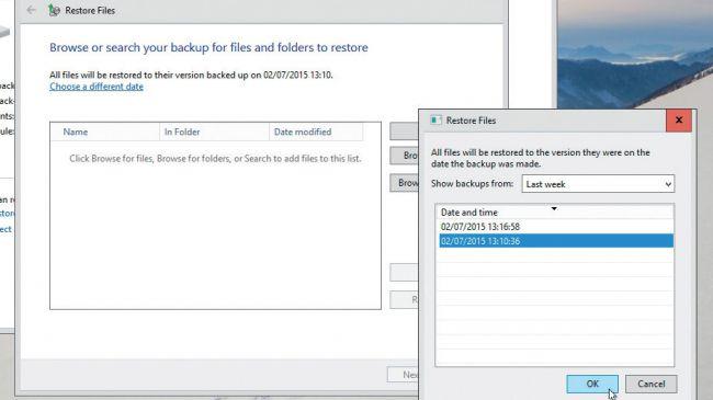 كيفية استعادة الملفات في نظام التشغيل Windows 10 بميزة File History