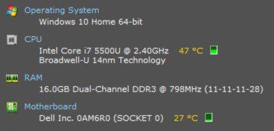 Laptop Temperature Speccy DzTechs - كيفية التحقق من درجة حرارة المعالج للكمبيوتر المحمول في Windows 10