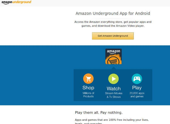 Play Store Alternatives 01 Amazon DzTechs - 7 من أفضل بدائل متجر غوغل بلاي للأندرويد لأفضل التطبيقات