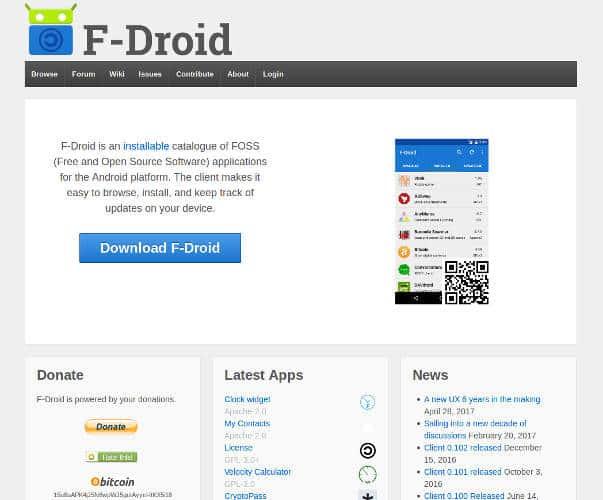Play Store Alternatives 03 F Droid DzTechs - 7 من أفضل بدائل متجر غوغل بلاي للأندرويد لأفضل التطبيقات