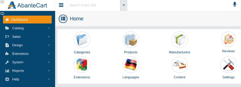 كيفية إعداد واستخدام AbanteCartعلى Ubuntu لإنشاء متجر الكتروني مميز