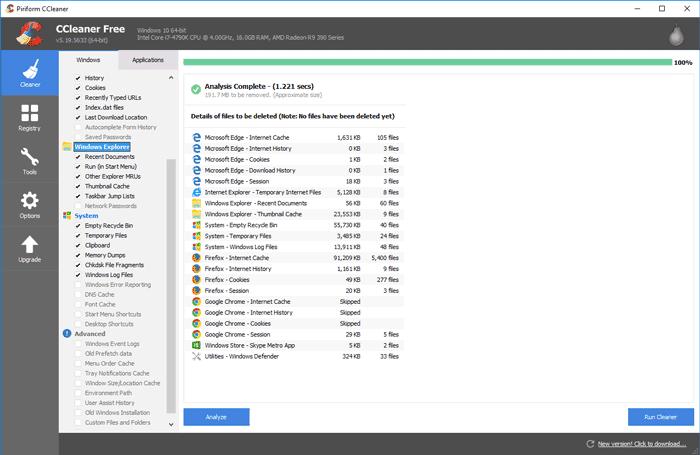 completely uninstall programs ccleaner DzTechs - أفضل 9 تطبيقات محمولة للويندوز تحتاجها بجانبك دومًا في الفلاش ديسك