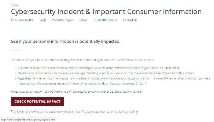 ماذا تفعل إذا كنت قد أصبت باختراق إيكيفاكس Equifax Hack - حماية