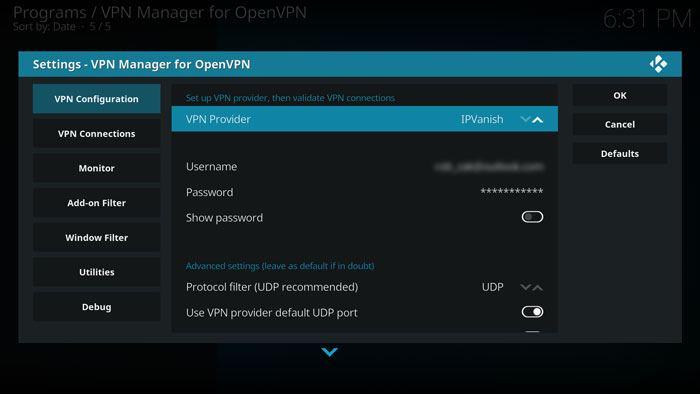 كيفية استخدام VPN مع كودي من خلال Kodi VPN Manager