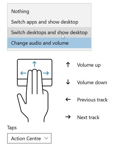 كيفية تخصيص لفتات و ايماءات لوحة اللمس في ويندوز 10 - الويندوز