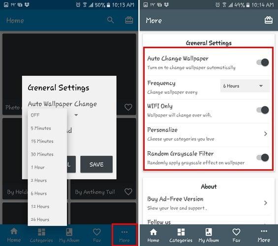 كيف يمكن تغيير الشاشة الرئيسية وخلفية لشاشة قفل على أندرويد Dr