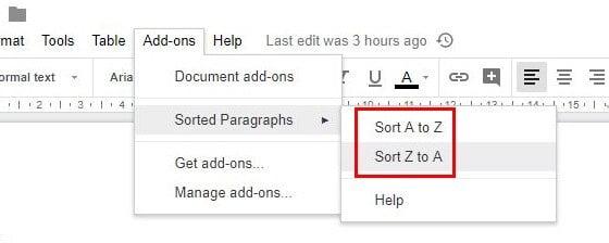 كيف يمكنك ترتيب مستنداتك أبجديًا في Google Docs و Google Spreadsheet