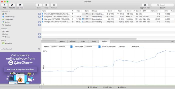 أفضل 5 عملاء BitTorrent لأجهزة Mac OS لتحميل ملفات التورنت