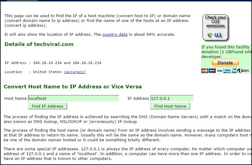 كيفية البحث عن عنوان IP لخادم أي موقع وفيما يمكن إستعماله