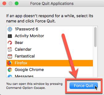 كيفية فرض إغلاق التطبيقات التي لا تستجيب على MacOS