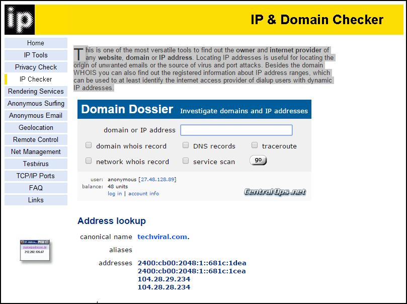 Comment trouver l'adresse IP de n'importe quel serveur de site et ce qui peut être utilisé