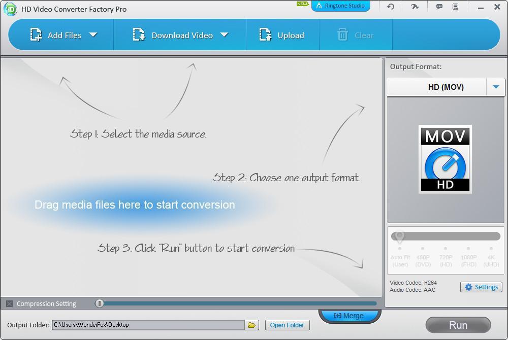مراجعة  لبرنامج WonderFox HD Video Converter Factory Pro لتحويل الفيديو والصوت