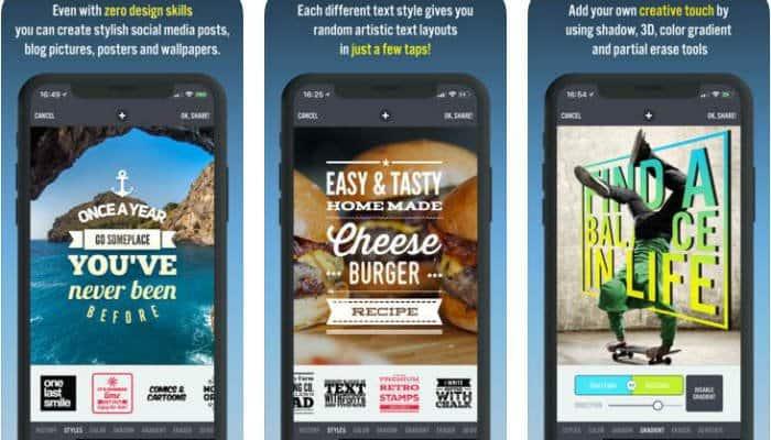 7 من أفضل تطبيقات الهاتف لإضافة نص إلى صورك بسهولة - Android iOS
