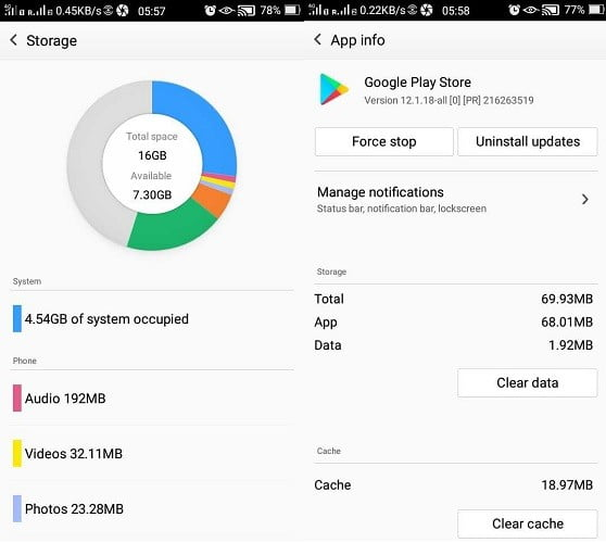 Comment corriger l'erreur d'attente de chargement dans l'application Google Play - Android