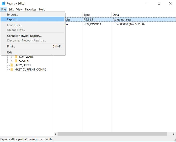 كيفية عمل النسخ الاحتياطية واستعادة بعض أو كل من سجل ويندوز الخاص بك