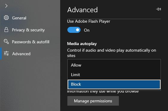 Comment désactiver la lecture vidéo automatique dans le navigateur Microsoft Edge - explications