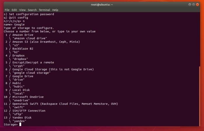 استخدام Rclone للمزامنة مع موفري وحدات تخزين متعددة في Linux لعملية النسخ الاحتياطي