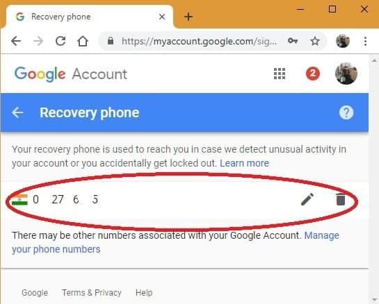 كيفية إزالة رقم هاتفك من حساب Google الخاص بك - شروحات