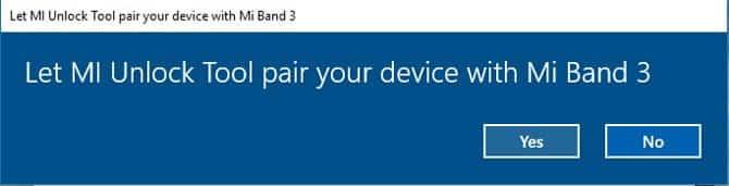 فتح قفل Windows باستخدام Mi Band 3/2