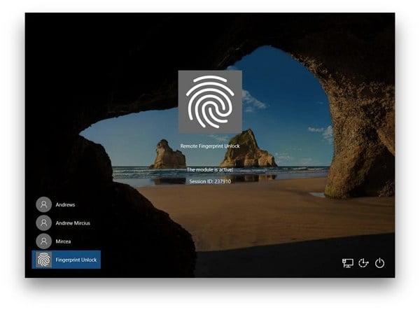 فتح قفل Windows باستخدام مستشعر بصمات الأصابع على جهاز Android