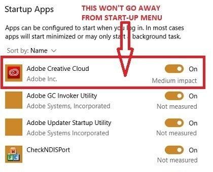 كيفية إلغاء تثبيت منتجات Adobe Creative Cloud من Windows 10 PC - الويندوز