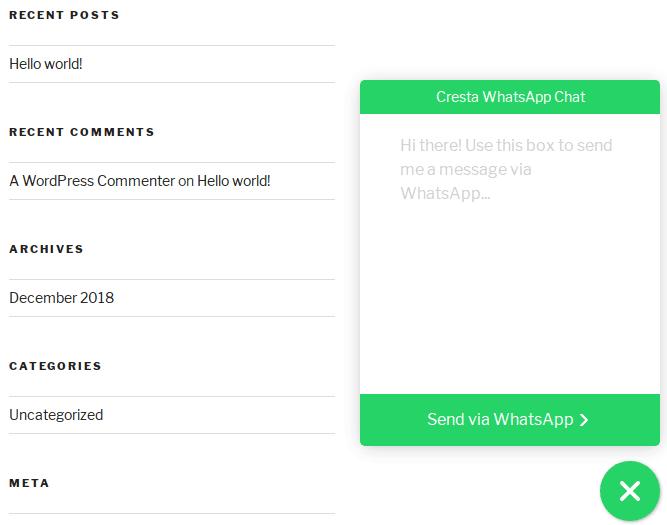 كيفية إضافة مربع دردشة WhatsApp إلى موقع WordPress الخاص بك