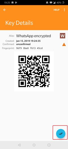 كيفية إرسال رسالة خاصة مشفرة على WhatsApp باستخدام Oversec
