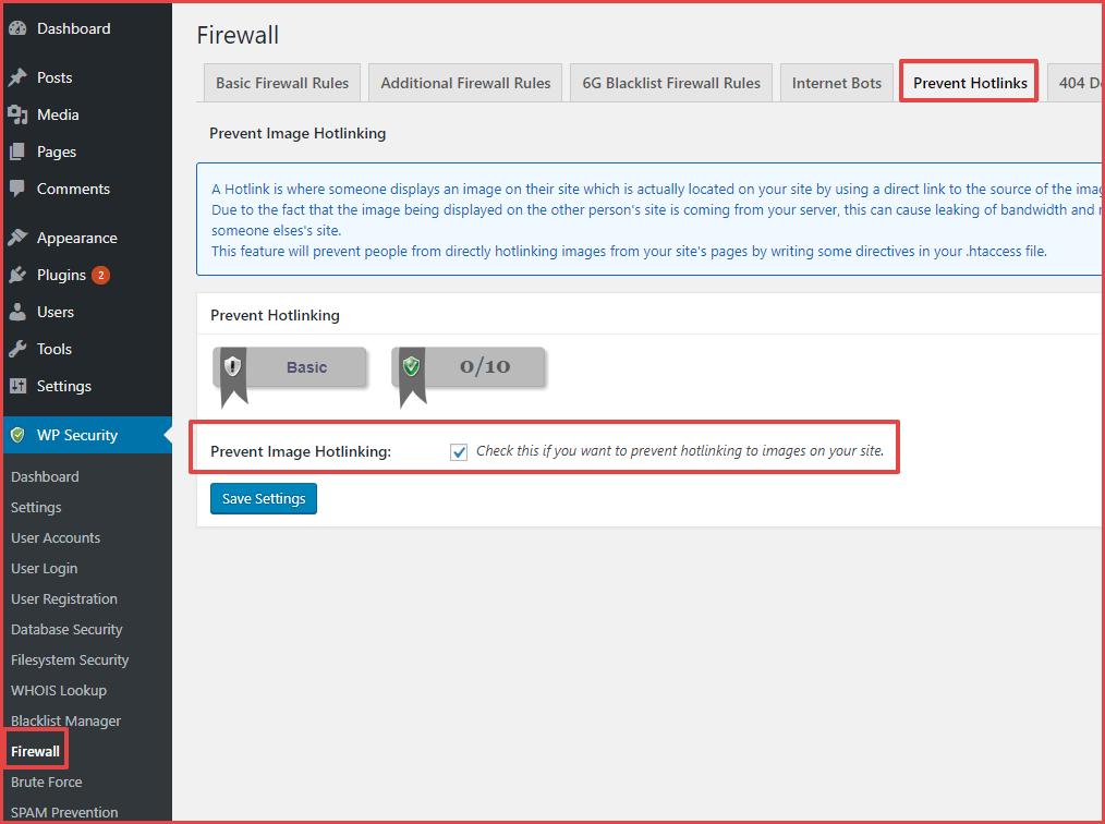 كيفية منع ارتباطات الصور المضمنة Hotlinking في WordPress (3 طرق عمل) - WordPress احتراف الووردبريس
