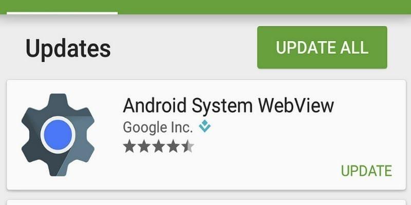 Qu'est-ce que l'application Android System Webview et dois-je la désinstaller?
