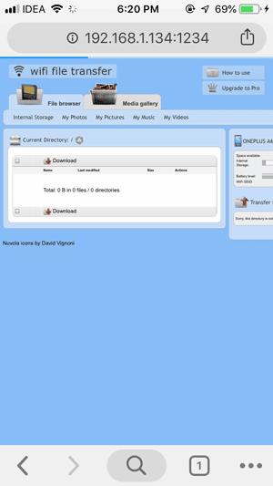 Wifi File Transfer iOS DzTechs - كيفية نقل الملفات من Android إلى iOS بدون SHAREit