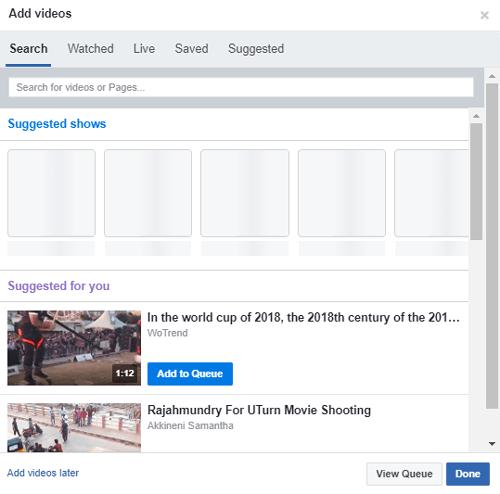 كيف تشاهد مختلف الفيديوهات على Facebook مع الأصدقاء والعائلة - FaceBook