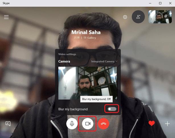 كيفية إخفاء الخلفية باستخدام وضع Blur على Skype - شروحات