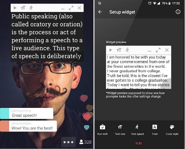 8 meilleures applications de téléprompteur pour Android - Android لأجهزة